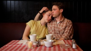 Saoirse Ronan as Eilis and Emory Cohen as Tony in Brooklyn
