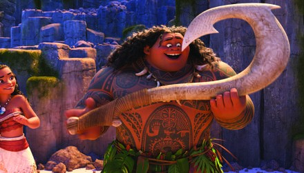 MOANA - (Pictured) Moana and Maui. ©2016 Disney. All Rights Reserved. Моана КультКино http://cultofcinema.com