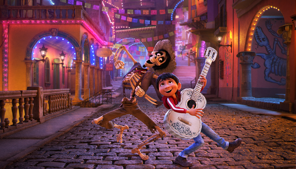 "NAME THAT TUNE – In Disney•Pixar's ""Coco,"" Miguel's love of music ultimately leads him to the Land of the Dead where he teams up with charming trickster Hector. ""Coco"" features an original score from Oscar®-winning composer Michael Giacchino, the original song ""Remember Me"" by Kristen Anderson-Lopez and Robert Lopez, and additional songs co-written by Germaine Franco and co-director/screenwriter Adrian Molina. Also part of the team is musical consultant Camilo Lara of the music project Mexican Institute of Sound. In theaters on Nov. 22, 2017. © 2017 Disney•Pixar. All Rights Reserved.  Тайна Коко Конкурс КультКино cultofcinrma.com"