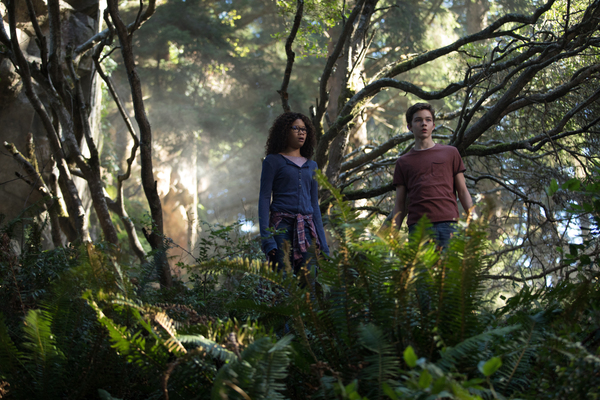 Storm Reid is Meg Murry and Levi Miller is Calvin O'Keefe in Disney's A WRINKLE IN TIME, an epic adventure based on Madeleine L'Engle's timless classic directed by Ava DuVernay.